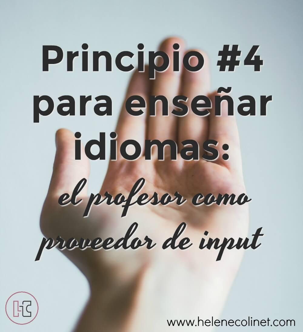 principio 4 enseñar idiomas recursos profesores helene colinet tprs ci españa