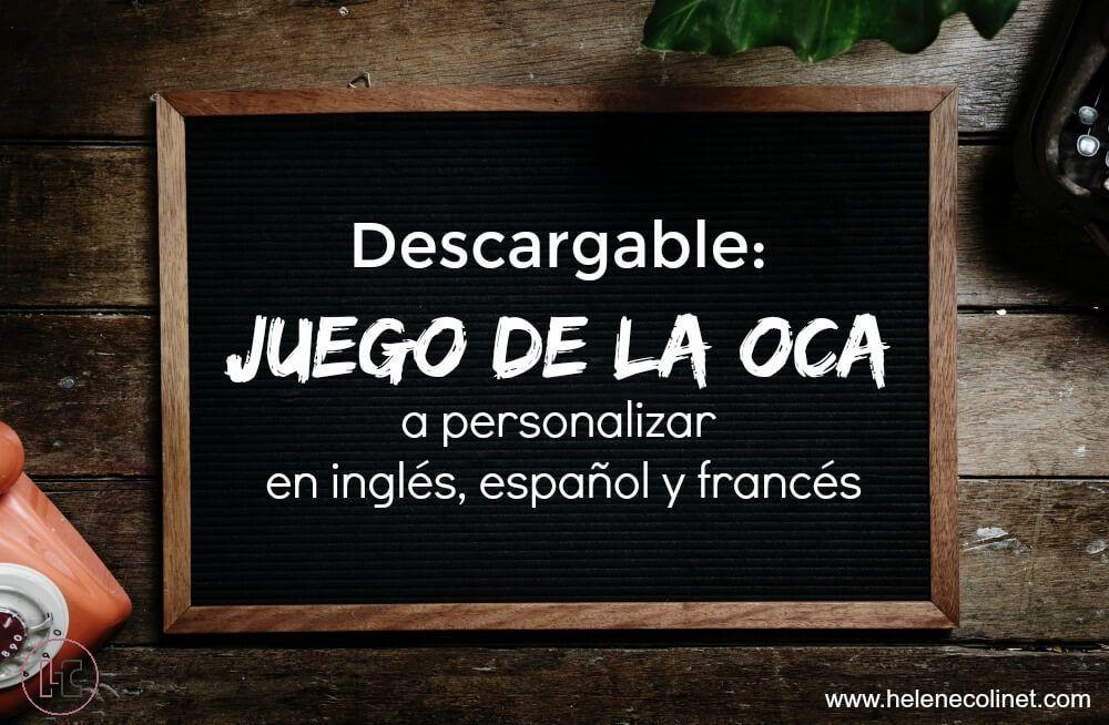 juego de la oca descargable inglés español francés helene colinet recursos profesores idiomas