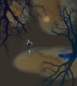 Damen vid vattnet