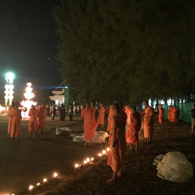 Monks at the Yee Peng Lantern festival