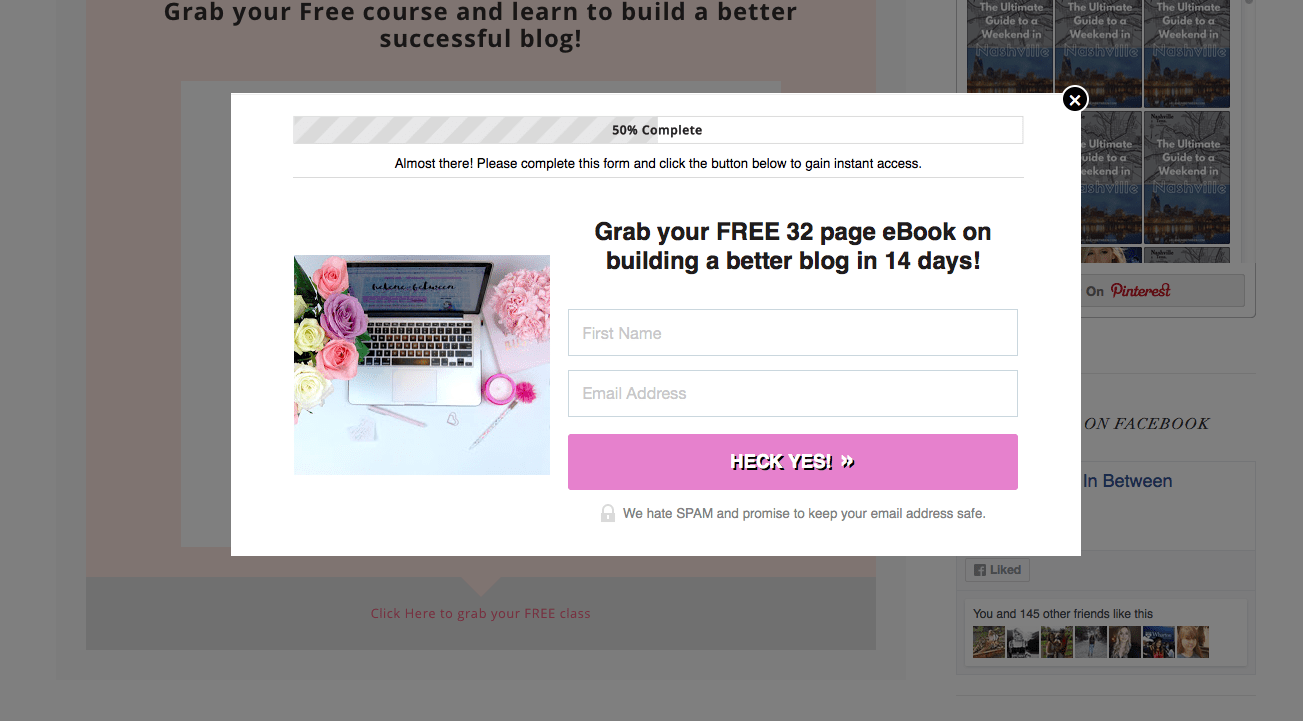 LeadPage Lead Box Opt In For Blog