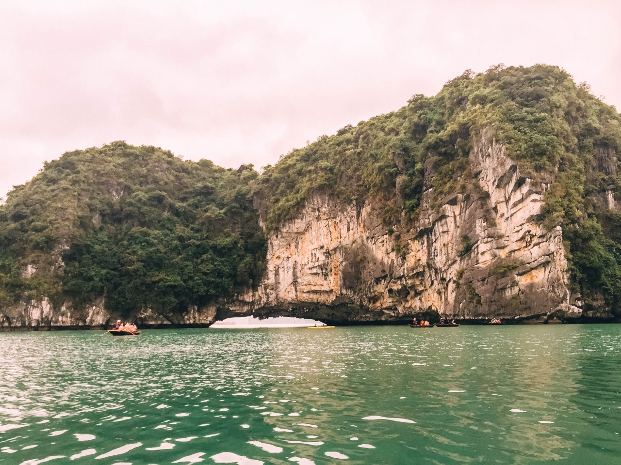 View of Bay's landscape in Halong Bay, Vietnam