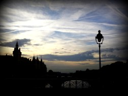 Bridge over the Seine. Another magical moment in the city of romance!