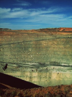 "This mining site in Kalgoorlie, Australia was the deepest and most extensive in the world when I visited it in 2009 with my school science group. It's not-so-creatively named the ""Super-Pit"" - maybe a controversial achievement considering some of the mining industry's current environmental practice, but I was awed by it's immensity; I couldn't see the bottom from where I stood!"