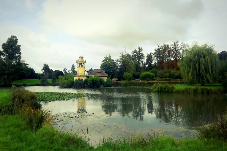 The gardens in Versailles were many and varied, my favourite being the portion that Marie Antoinette designed to look like a sweet little farm. It was exactly like a fairytale village and I adored it! The weather was so still that this lake made a very pretty mirror.