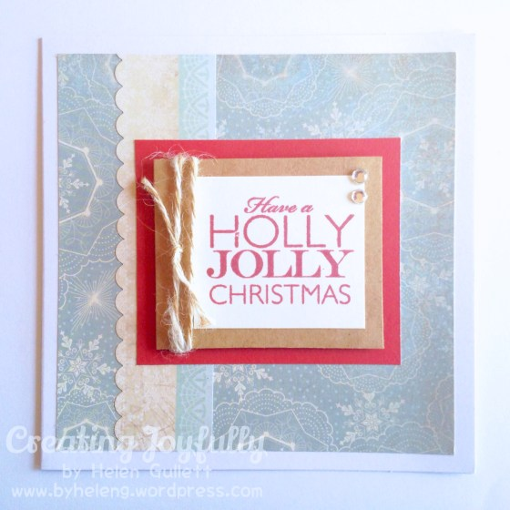Have a Holly Jolly Christmas by Helen G. - Scrapping Everyday Miracles Card Sketch Challenge