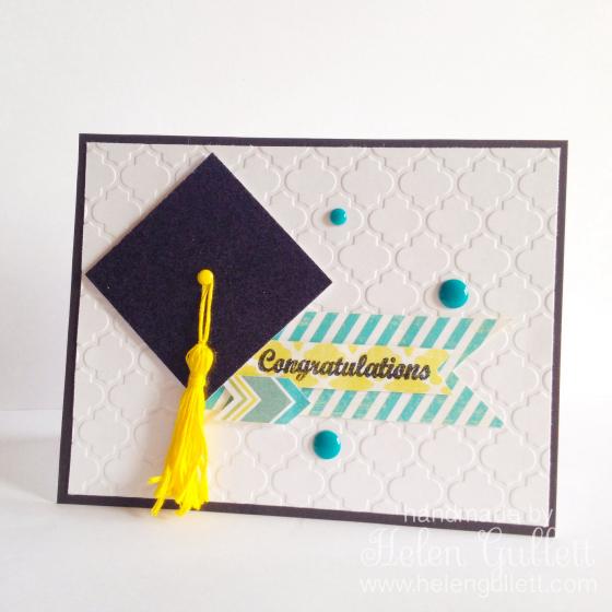 Congratulations Graduate! | http://helengullett.com/?p=4730 #handmadecard #diy #cardmaking #closetomyheart #ctmh