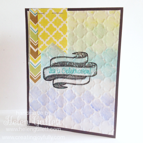 It's A Celebrations! A graduation card by Helen Gullett | http://helengullett.com/?p=4760 #card #handmadecards #closetomyheart #watercolor #embossing