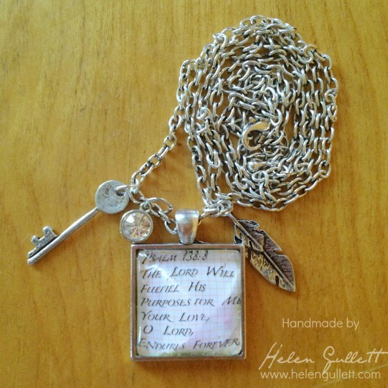 DIY Gift for A Friend - CTMH Base and Bling Wearable by Helen Gullett #diy #necklace #closetomyheart #ctmh