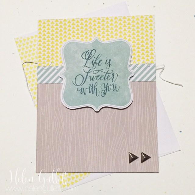 An Untraditional, Masculine Valentine's Card | by Helen Gullett | www.helengullett.com