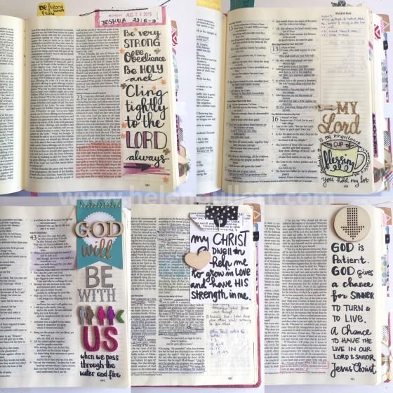 HelloMornings Week 1 Bible Journaling | #HelloMornings #RelentlessStudy #illustratedfaith #pray #biblejournaling #journalingbible