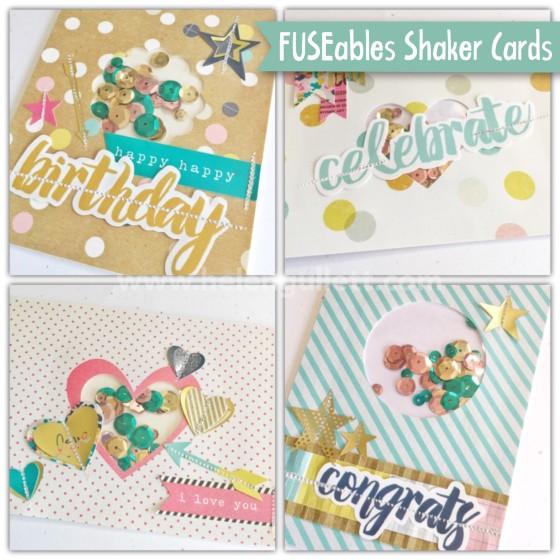 FUSEables Shaker Cards | Helen Gullett www.helengullett.com #FUSEables #wrmk #wermemorykeepers #creatingjoyfully #handmadecard #shakercard #cardmaking