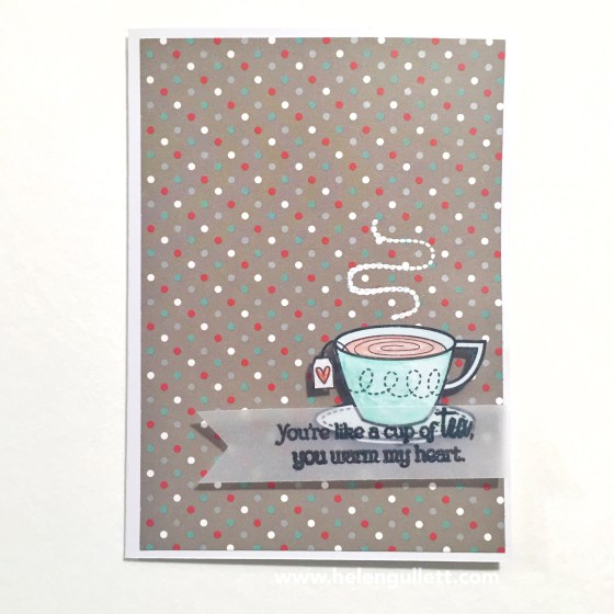 You're Like A Cup Of Tea | 2015 Holiday Coffee Lovers Blog Hop #holidayclh #CTMH #handmadecard #cardmaking