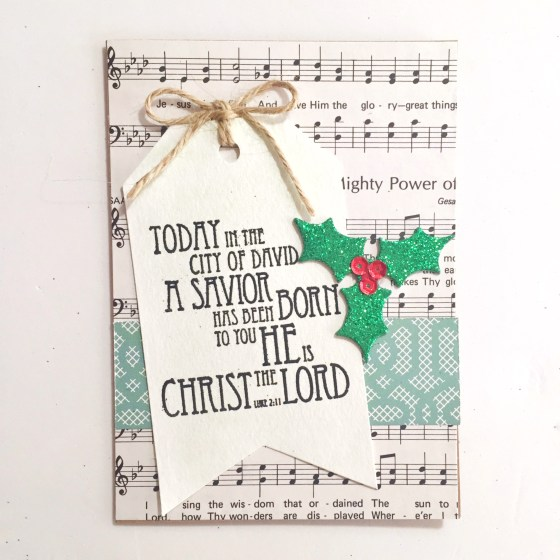Luke 2:11 , caed by Helen G. http://wp.me/p1DmW0-26m | #cardmaking #handmadecard #christmascard