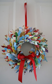 Crafty Sy: Christmas Cards Wreath