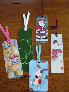 The Frugal Girls: Bookmarks from Christmas Cards