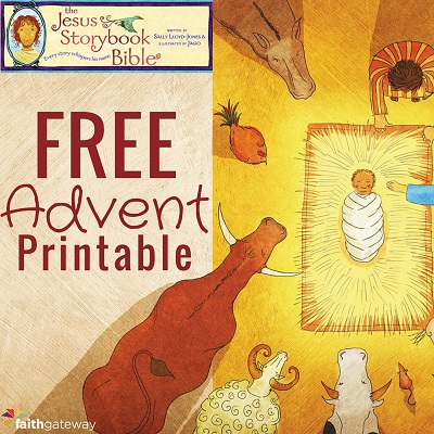 Jesus Storybook Advent Printable (Free) - http://www.faithgateway.com/jesus-storybook-bible-advent-calendar-printable/