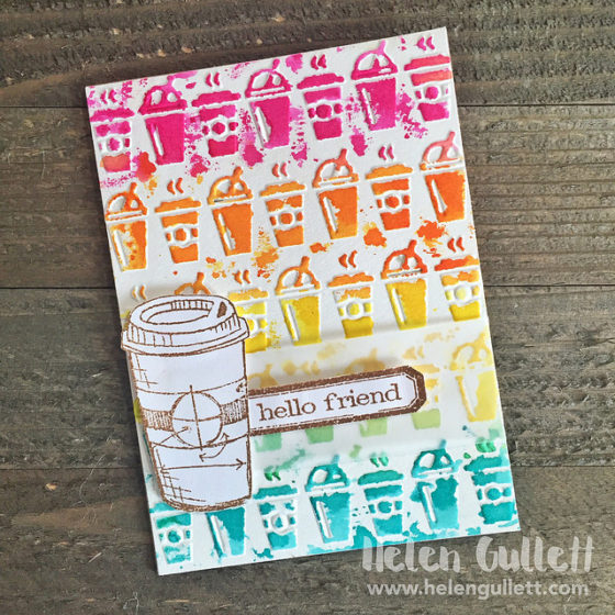 Die-cutting, Embossing and Watercoloring With Distress Crayons | http://helengullett.com/?p=9170
