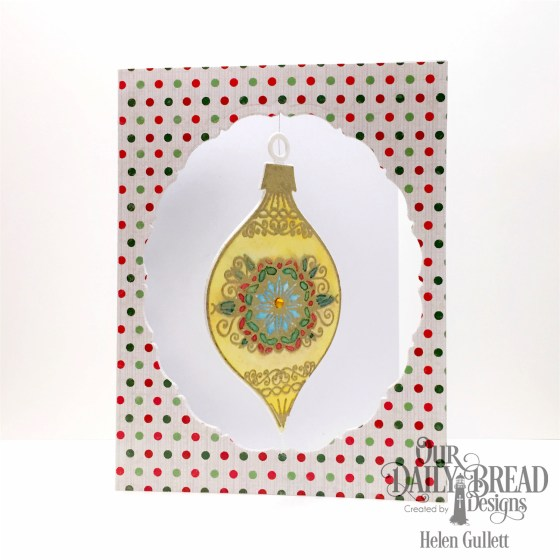 Floating Watercolored Ornament Card -- www.helengullett.com/?p=10637