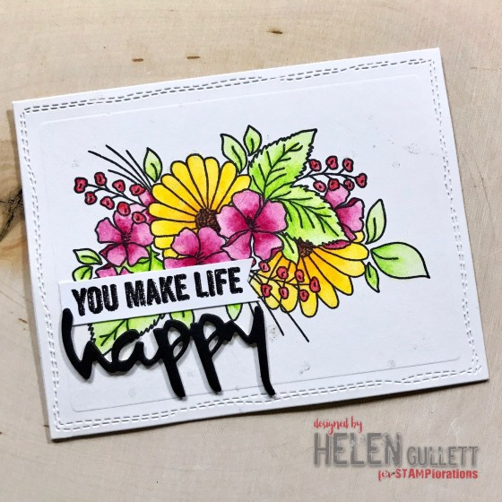 STAMPlorations CUTplorations October Challenge: You Make Life Happy