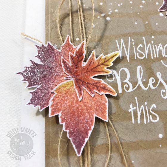 Joy Clair November Challenge Fall Leaves Mixed Media Card