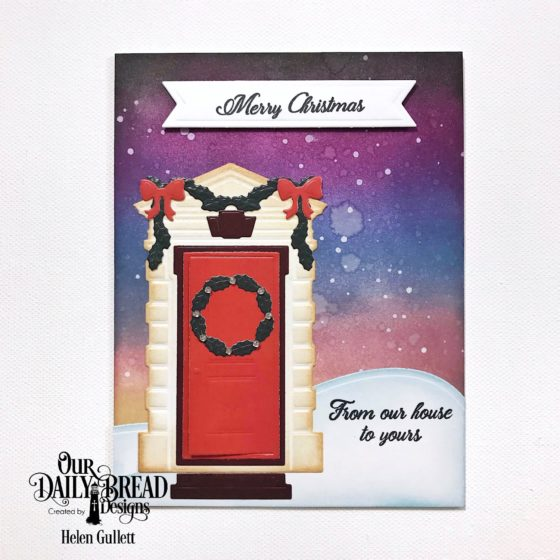Christmas Card With ODBD Dies and Distress Inks
