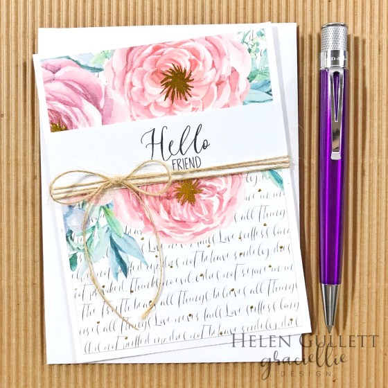 Graciellie Desing Hello Friend CAS Card - Living My Given Life