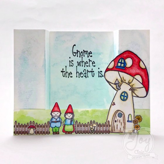Bridge Card With Gnome Is Where The Heart Is