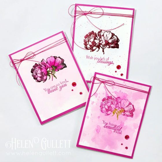 3 Monochromatic Mixed Media CAS Cards - Growing In Unity Gals Blog Hop - Let Your Dreams Bloom Stamp Set by Graciellie Design