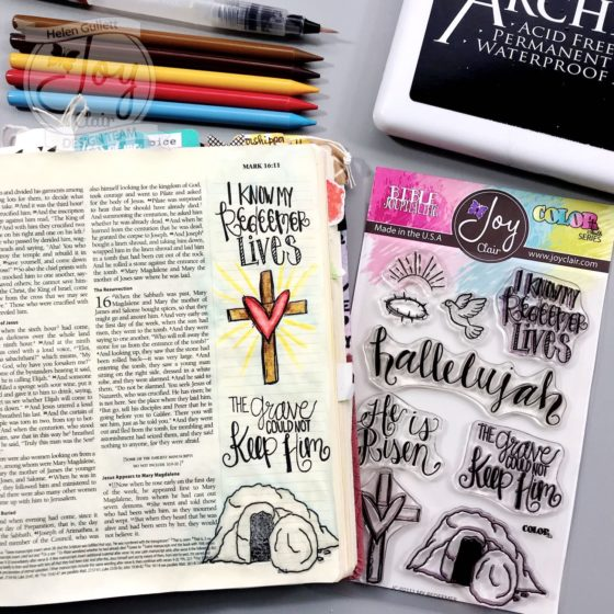 My Redeemer Lives Bible Journaling