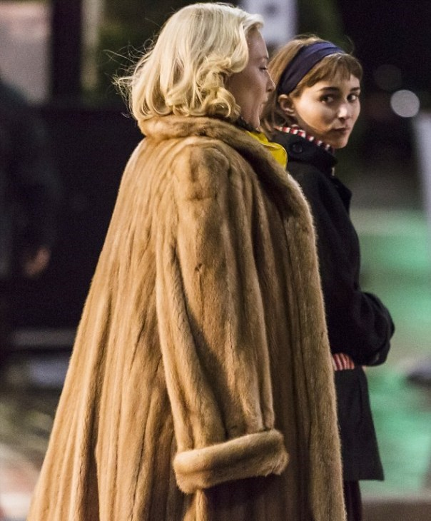 "Blanchett as ""Carol"" in fur"