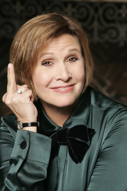 Carrie Fisher Is Defiant