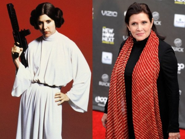 Carrie Fisher, Young and Old
