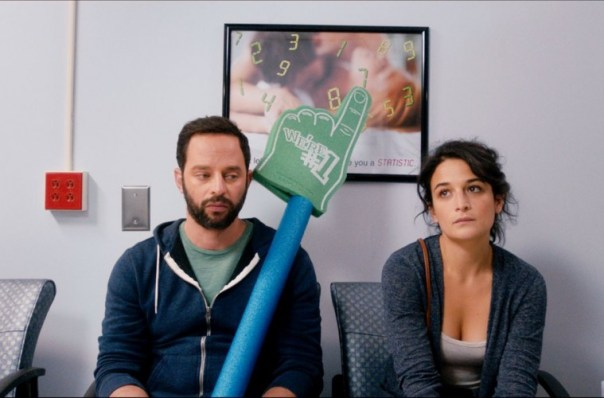 "Nick Kroll and Jenny Slate in ""My Blind Brother"