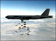 B-52 Drops its Bombs