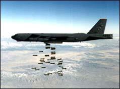 B-52 Drops its Bombs