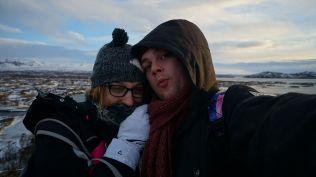 Huddling for warmth