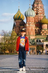 Volgograd boy's first visit to Red Square (Moscow, Russia 1992)