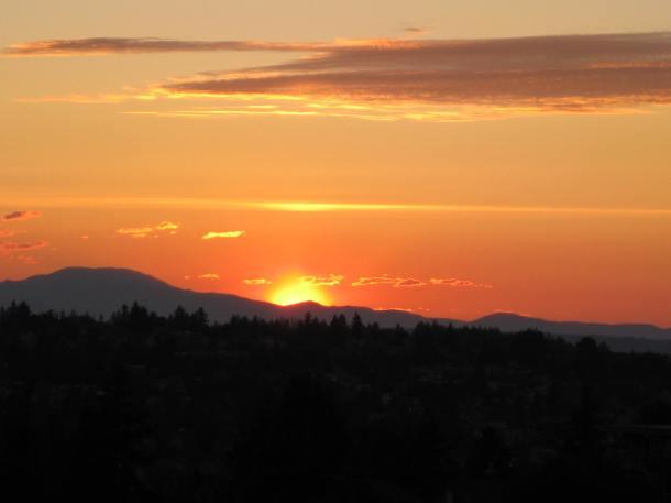 Summer's first sunset. Seattle, June 21, 2011. (Photo-Helen Holter)