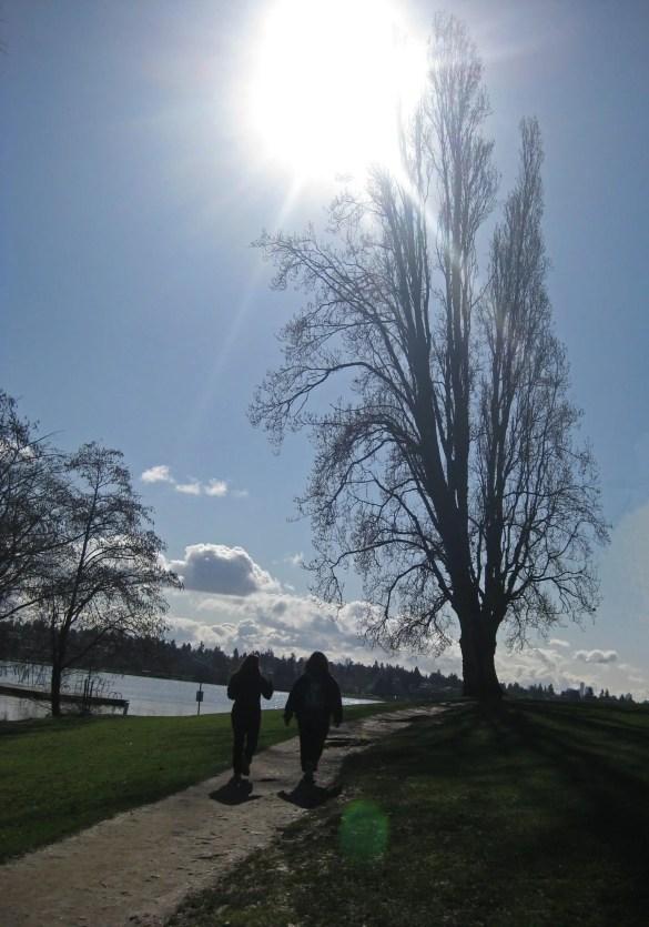 Green Lake: walking to the sun.