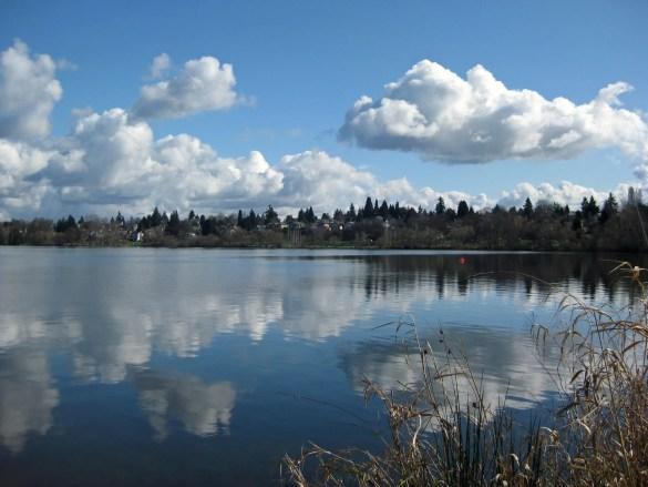 Green Lake, a.k.a. Reflection Lake today. (March 3, 2013)