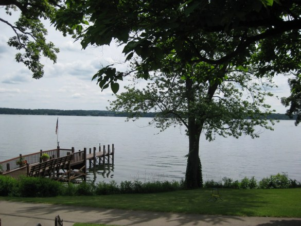 Green Lake views from Heidel House, a rare yet memorable destination when I studied at nearby Ripon College.