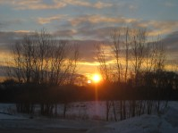 A winter solstice sunrise from my mom's place in Racine, Wisconsin.