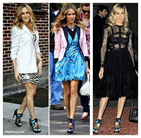 The Art of Accessorizing-HelenHou.com-Sarah Jessica Parker and her Nicholas Kirkwood Sandals-1