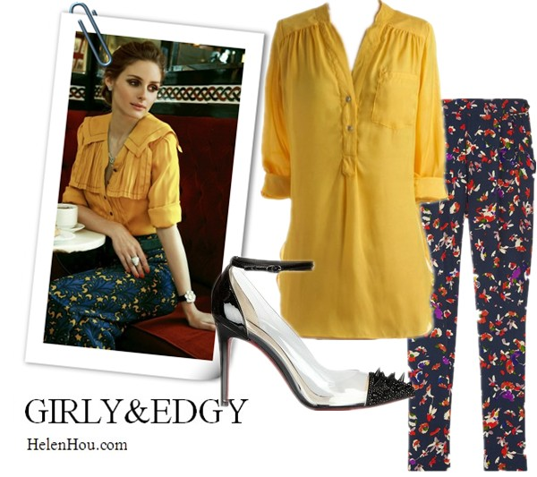 Transitional Looks, Olivia Palermo outfits, Olivia Palermo style,Olivia Palermo for Tatler Russia,john galliano yellow top, miu miu print pants,carrera y carrera jewelry, Ana Locking polka dot top, Marni tulle skirt, Giorgio Armani red pumps, what to  wear with polka dot, what to wear with print pants,  Ellison yellow blouse,Vanessa Bruno print pants,Christian Louboutin studded ankle strap pumps,helenhou, helen hou, the art of accessorizing, accessoriseart, celebrity style, street style, lookbook, model off-duty,red carpet looks,red carpet looks for less, fashion, style, outfits, fashion guru, style guru, fashion stylist, what to wear, fashion expert, blogger, style blog, fashion blog,look of the day, celebrity look,celebrity outfit,designer shoes, designer cloth,designer handbag,