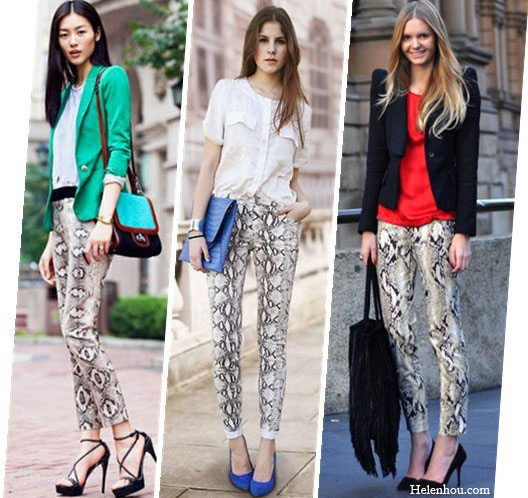 Python print pants,Snakeskin pants,printed pants,street style,Liu Wen,wethepeoplestyle, green blazer,strap sandals, colorblock crossbody bag,gold watch, white blouse,summer blouse,light weight blouse,blue clutch,oversized clutch,silver cuff,blue suede pumps,black blazer,exaggerated shoulder blazer, red top,black pumps,basic pumps, Tassel Bag,black fringe bag,  tumblr,helenhou, helen hou, the art of accessorizing, accessoriseart, celebrity style, street style, lookbook, model off-duty,red carpet looks,red carpet looks for less, fashion, style, outfits, fashion guru, style guru, fashion stylist, what to wear, fashion expert, blogger, style blog, fashion blog,look of the day, celebrity look,celebrity outfit,designer shoes, designer cloth,designer handbag,