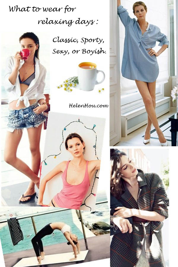 Miranda Kerr, Kate Moss, Virginie Mouzat, Charlotte Kemp Muhl,Miranda Kerr, white blouse,white top,denim shorts,menswear,what to wear for relaxing,what to wear for yoga,how to wear men's clothing, summer outfit,  helenhou, helen hou, the art of accessorizing, accessoriseart, celebrity style, street style, lookbook, model off-duty,red carpet looks,red carpet looks for less, fashion, style, outfits,