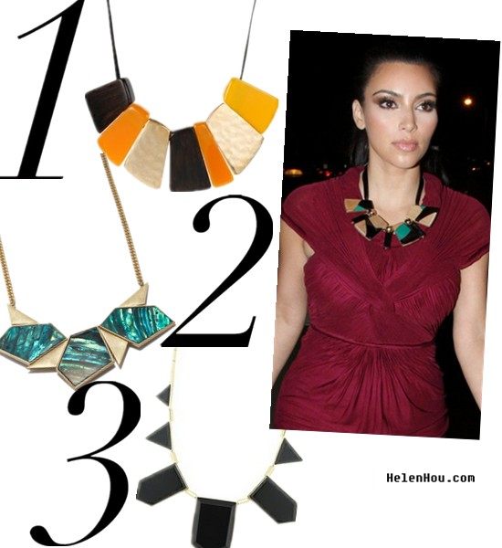 Statement nacklace,statement jewelry,costume jewelry, celebrity street style,Kim Kardashian street style,Kim Kardashian outfit,House of Harlow 1960 Jewelry,Kenneth Cole necklace,Rachel Roy necklace,geometric necklace,Kim Kardashian,Kim burgundy dress,  helenhou, helen hou, the art of accessorizing, accessoriseart, celebrity style, street style, lookbook, model off-duty,red carpet looks,red carpet looks for less, fashion, style, outfits, fashion guru, style guru, fashion stylist, what to wear, fashion expert, blogger, style blog, fashion blog,look of the day, celebrity look,celebrity outfit,designer shoes, designer cloth,designer handbag,