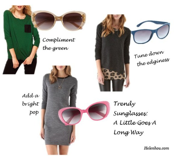 trendy sunglasses, how to wear sunglasses, mirror sunglasses, colorful sunglasses, cat eye sunglasses,  Asos pocket detail sweater,Kate Spade cat eye sunglasses,J Brand dress, Kate Spade retro sunglasses,Rebecca Taylor sweater, Marc by Marc Jacobs gradient sunglasses,    helenhou, helen hou, the art of accessorizing, accessoriseart, celebrity style, street style, lookbook, model off-duty,red carpet looks,red carpet looks for less, fashion, style, outfits, fashion guru, style guru, fashion stylist, what to wear, fashion expert, blogger, style blog, fashion blog,look of the day, celebrity look,celebrity outfit,designer shoes, designer cloth,designer handbag,
