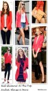 what to wear with a red blazer, what to wear with a red coat, what to wear with a red blouse, red peplum top, colorblocking, animal prints, polka dot,   street style, Kate middleton, Stacy Keibler,blogger Wendy, Constance Jablonski, Lily Collins,helenhou, helen hou, the art of accessorizing, accessoriseart, celebrity style, street style, lookbook, model off-duty,red carpet looks,red carpet looks for less, fashion, style, outfits, fashion guru, style guru, fashion stylist, what to wear, fashion expert, blogger, style blog, fashion blog,look of the day, celebrity look,celebrity outfit,designer shoes, designer cloth,designer handbag,